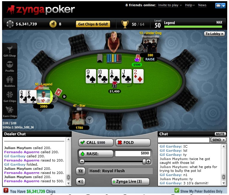 Zynga Poker on Facebook
