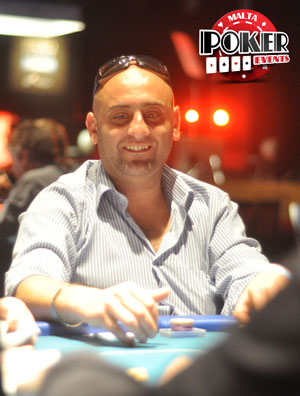 Geroge Galea at the Malta Poker Dream Main Event