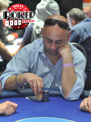 George Galea at the Malta Poker Dream